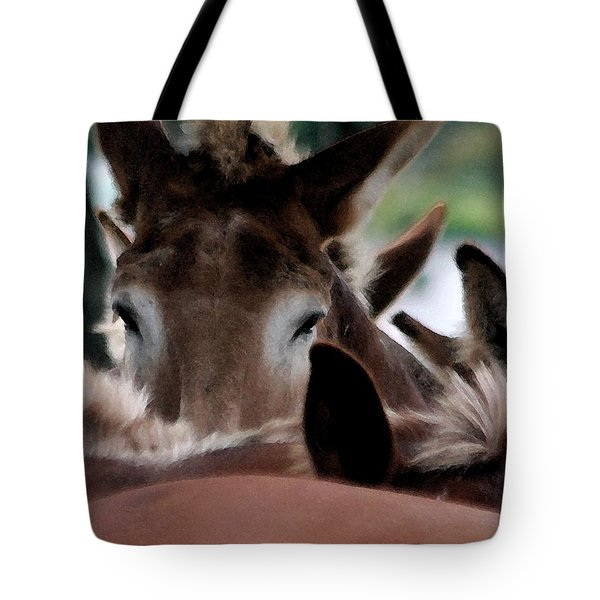 Tote Bag featuring the photograph See No Evil by Polly Peacock