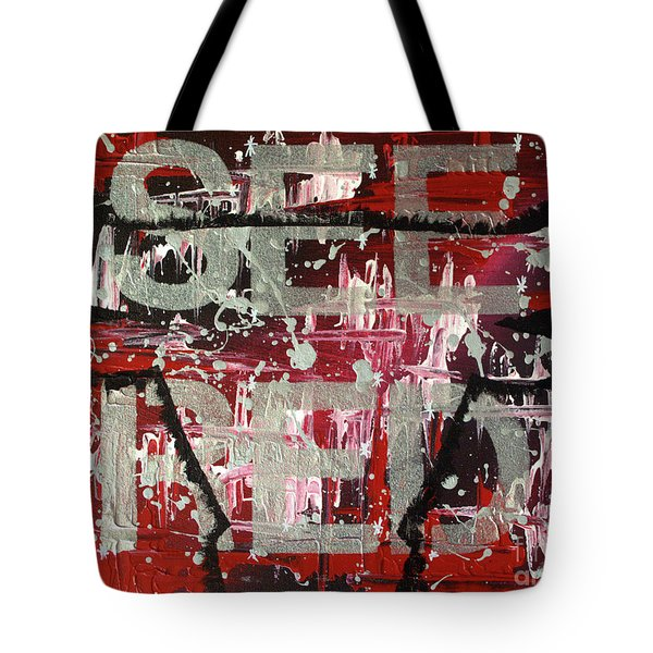See Red Chicago Bulls Tote Bag