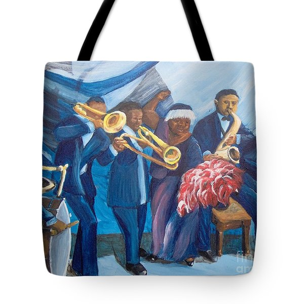 Tote Bag featuring the painting See The Music by Saundra Johnson