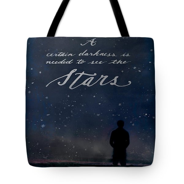 Tote Bag featuring the digital art See The Stars by Teresa Wilson