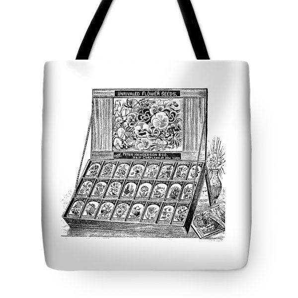 Tote Bag featuring the drawing Seed Bank by ReInVintaged