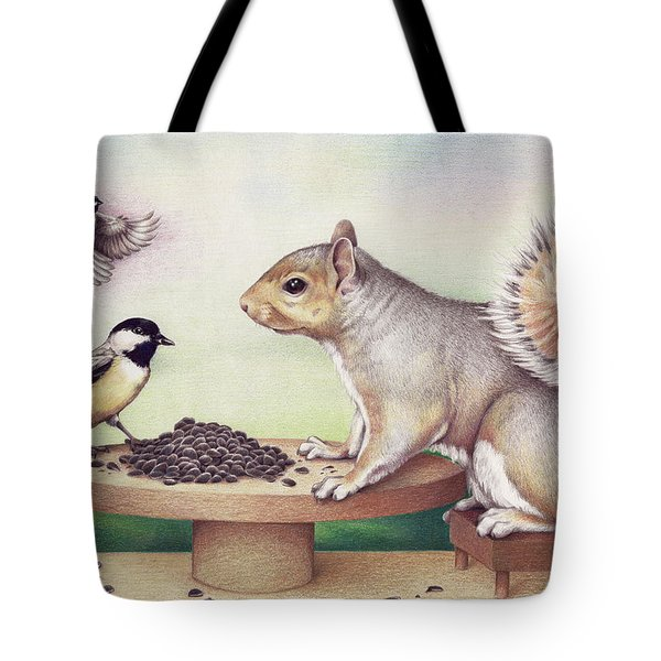 Seed For Two Tote Bag by Amy S Turner