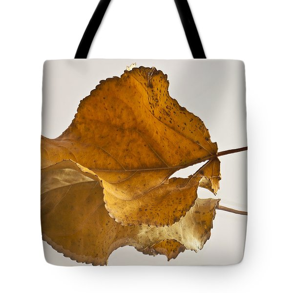Seeing Double Autumn Leaf  Tote Bag by Sandra Foster
