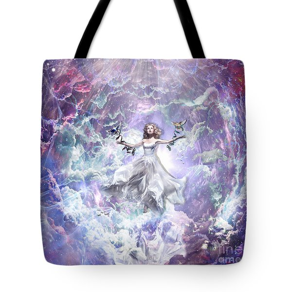 Tote Bag featuring the digital art Seek And You Shall Find by Dolores Develde