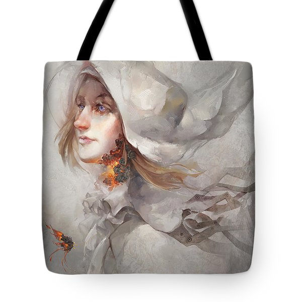 Tote Bag featuring the digital art Seek V1 by Te Hu