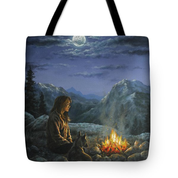 Tote Bag featuring the painting Seeking Solace by Kim Lockman