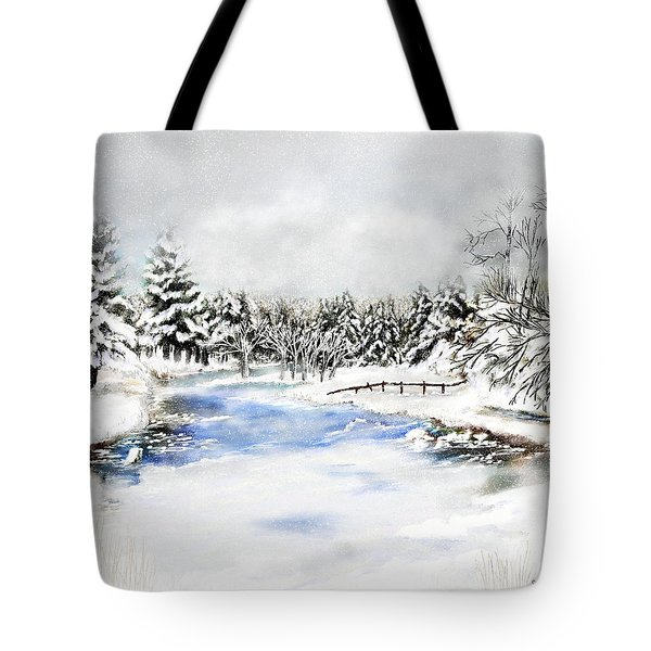 Seeley Montana Winter Tote Bag by Susan Kinney