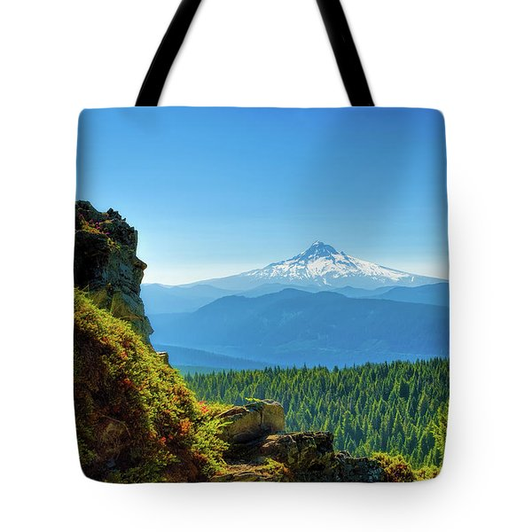 Mt Hood Seen From Beyond Tote Bag