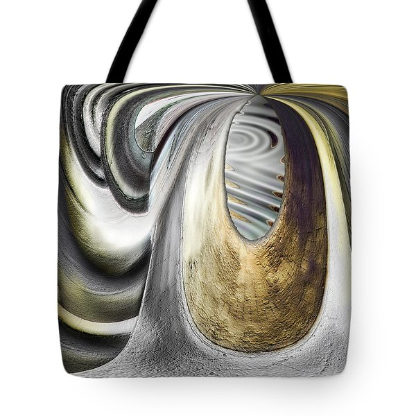Tote Bag featuring the digital art Seen In Stone by Wendy J St Christopher