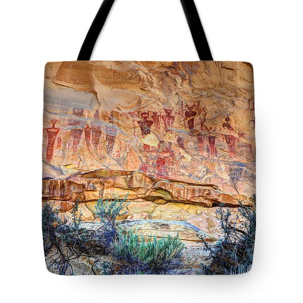 Sego Canyon Indian Petroglyphs And Pictographs Tote Bag
