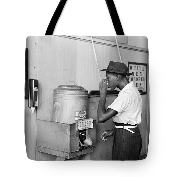 Segregated Drinking Fountain 1939 - Civil Rights Photo  Tote Bag