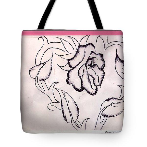 Segregated Rose Tote Bag