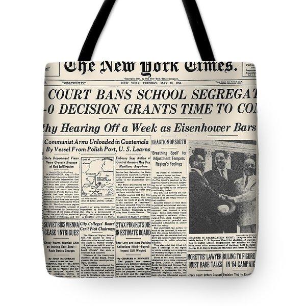 Segregation Headline, 1954 Tote Bag by Granger