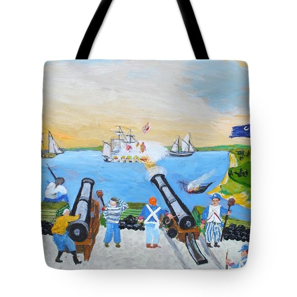 Seige Of Charleston, Sc Tote Bag