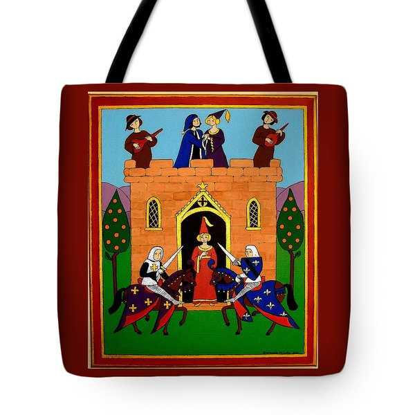 Seige Of The Castle Of Love Tote Bag by Stephanie Moore