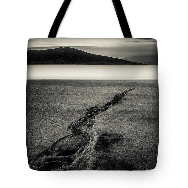 Seilebost Sand Tracks Tote Bag