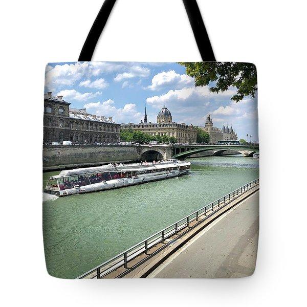 River Seine In Paris Tote Bag