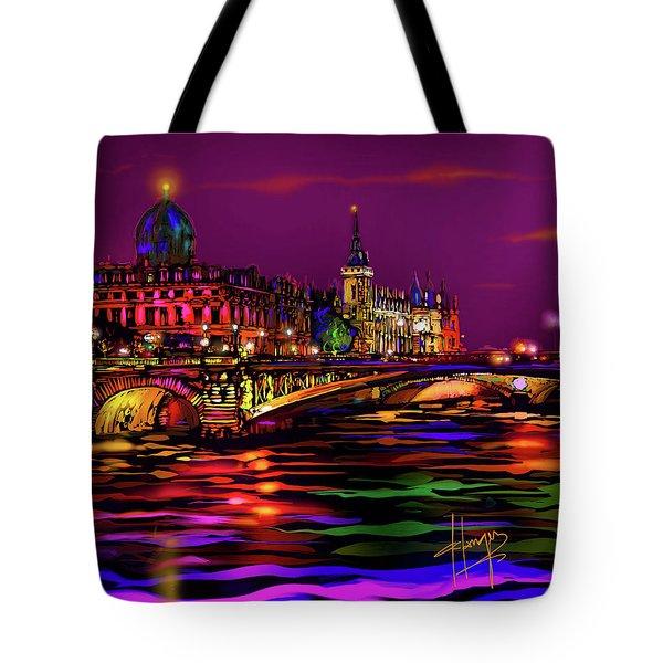 Seine, Paris Tote Bag