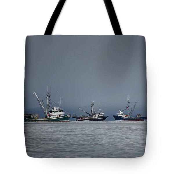 Tote Bag featuring the photograph Seiners Off Mistaken Island by Randy Hall