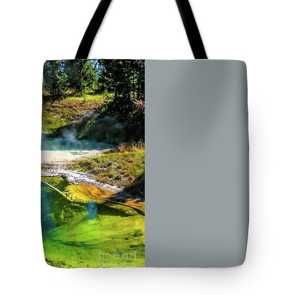 Tote Bag featuring the photograph Seismograph Pool In Yellowstone by Benny Marty