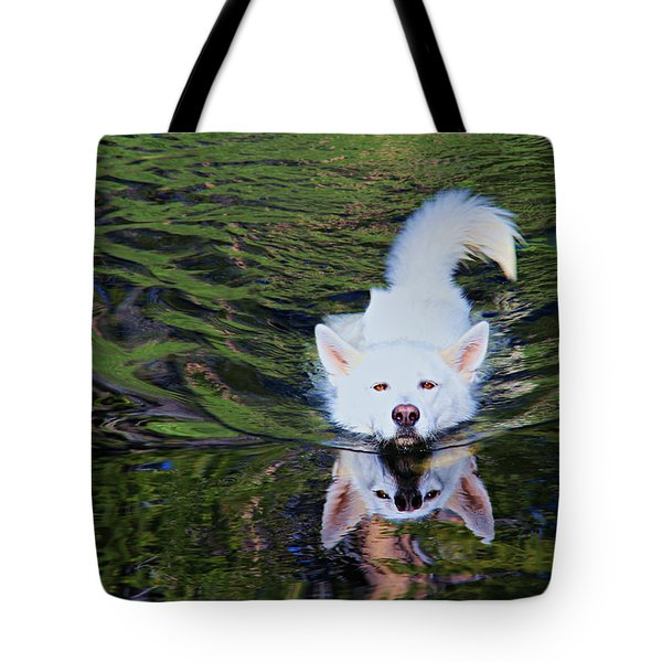 Tote Bag featuring the photograph Sekani Swimming by Sean Sarsfield