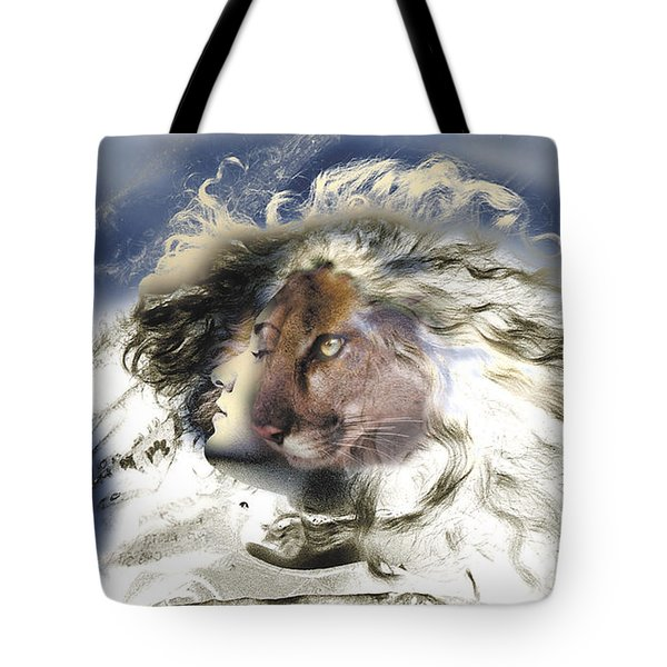 Tote Bag featuring the painting Sekhmet by Ragen Mendenhall