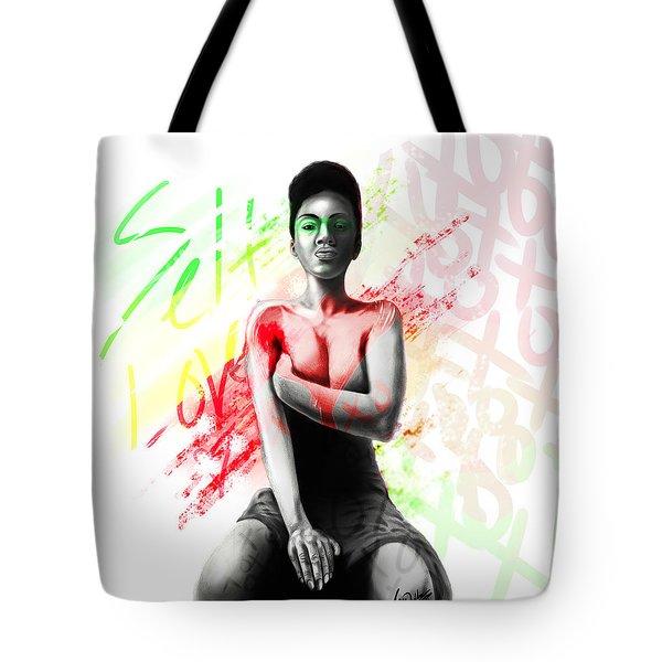 Self Love Xoxo Tote Bag by AC Williams