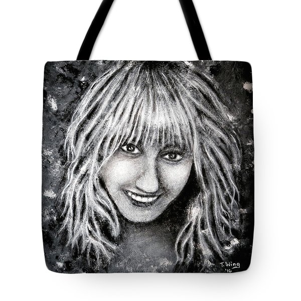 Tote Bag featuring the painting Self Portrait #1 by Teresa Wing