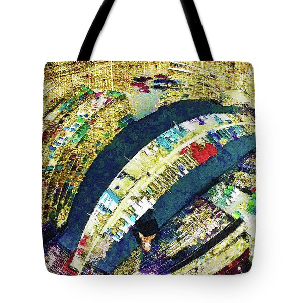 Tote Bag featuring the mixed media Self Portrait 1 by Tony Rubino