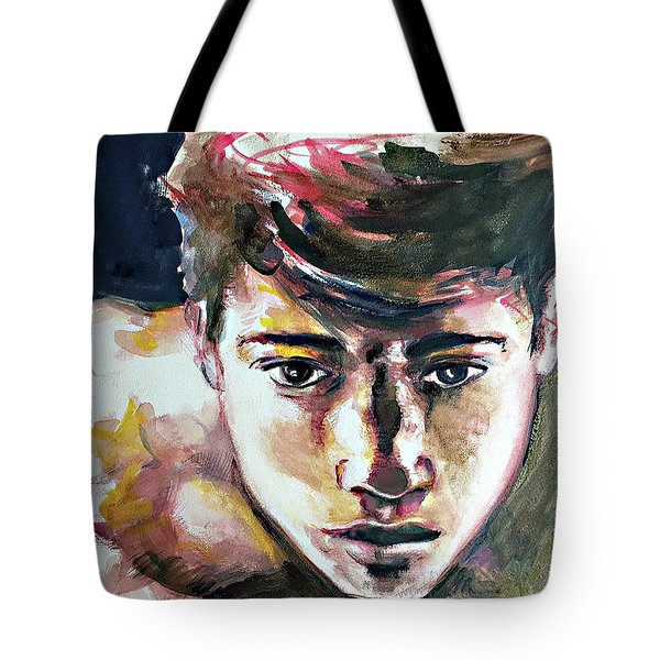 Tote Bag featuring the painting Self Portrait 2016 by Rene Capone