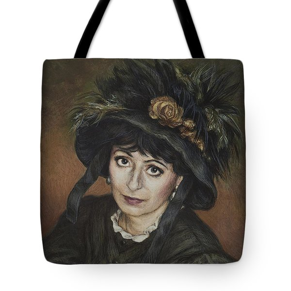 Self-portrait A La Camille Claudel Tote Bag