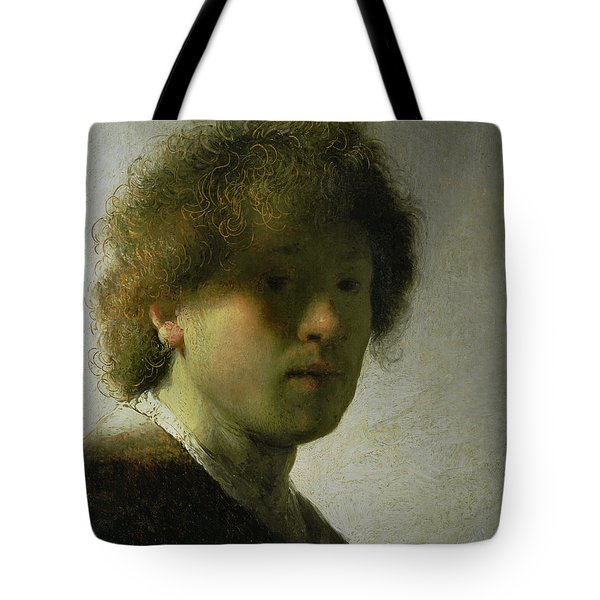 Self Portrait As A Young Man Tote Bag by Rembrandt