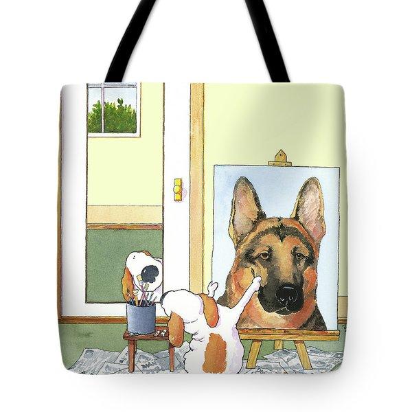 Self Portrait, German Shepherd Tote Bag