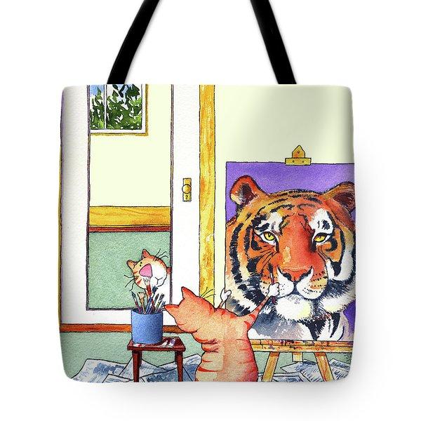 Self Portrait, Tiger Tote Bag