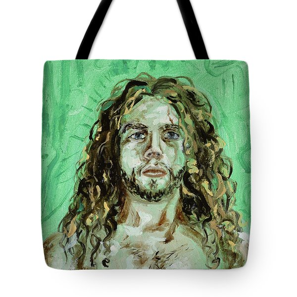 Self Portrait -with Emerald Green And Mummy Brown- Tote Bag