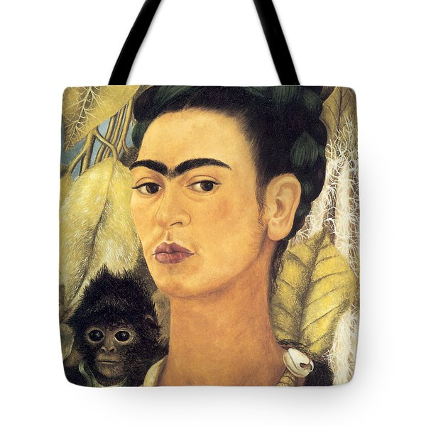 Self Portrait With Monkey  Tote Bag
