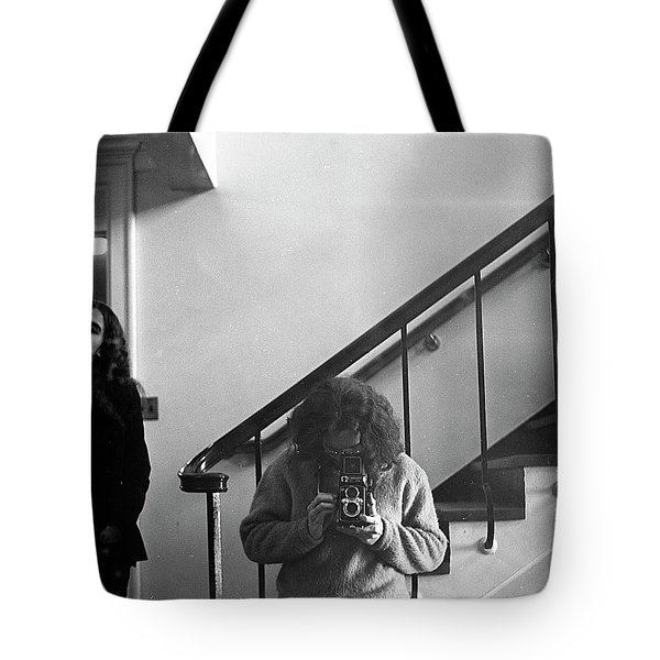 Self-portrait, With Woman, In Mirror, Cropped, 1972 Tote Bag