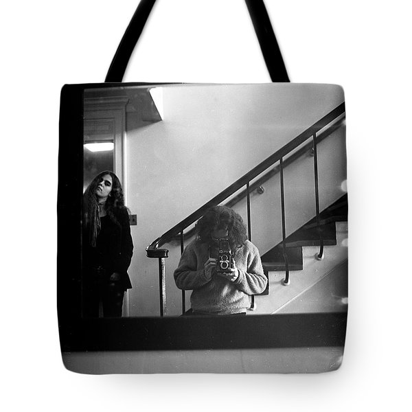 Self-portrait, With Woman, In Mirror, Full Frame, 1972 Tote Bag