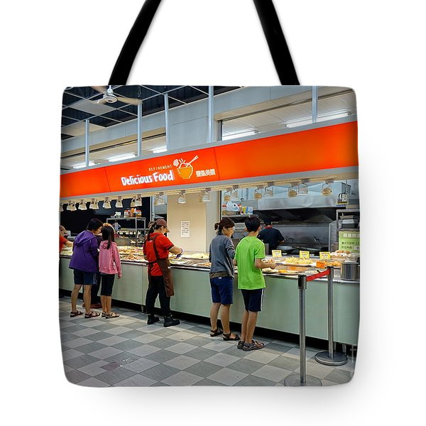Tote Bag featuring the photograph Self-service Restaurant On A Sidewalk In Kaohsiung City by Yali Shi