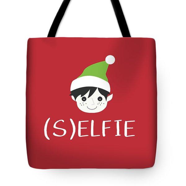 Selfie Elf- Art By Linda Woods Tote Bag