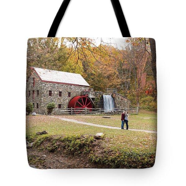 Selfie In Autumn Tote Bag