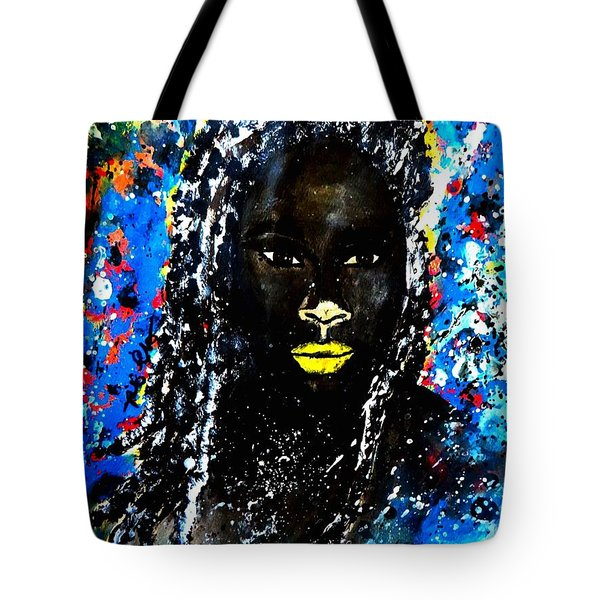 Tote Bag featuring the painting Selfie by Tarra Louis-Charles