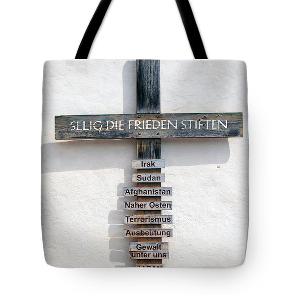 Selig, Die Frieden Stiften Tote Bag