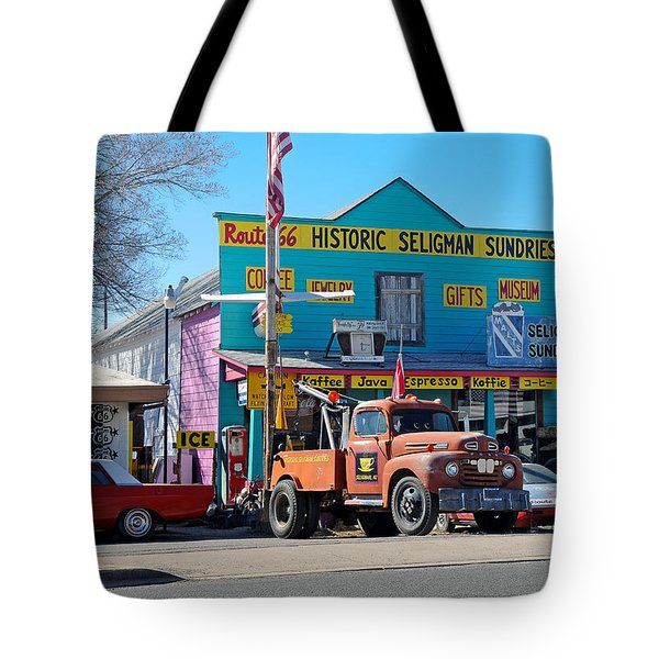 Seligman Sundries On Historic Route 66 Tote Bag