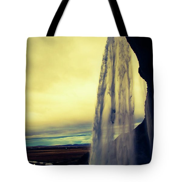 Seljalandsfoss Sunset Tote Bag