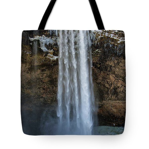 Tote Bag featuring the photograph Seljalandsfoss Waterfall Iceland Europe by Matthias Hauser