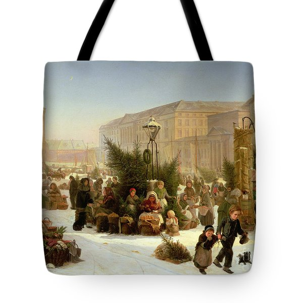 Selling Christmas Trees Tote Bag by David Jacobsen