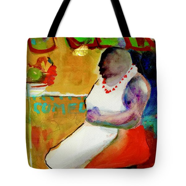 Selling Fruit In Colombia Tote Bag
