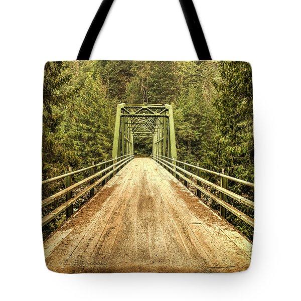 Selway River Bridge Tote Bag