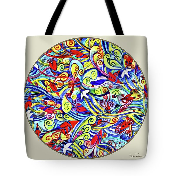 Semi Abstract Paintings Button Tote Bag